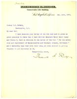 Letter from Frederick H. Rindge and Bishop C.C. McCabe, 1905 January 12
