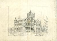 "Drawing of ""Science Hall"", undated"