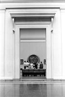 Group gathered in an exhibition room in the National Gallery of Art, Washington, D.C.