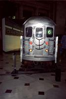 "Alternate view of ""3rd Rail"" car at Yugo Next exhibition in Union Station, Washington, D.C."