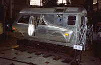 """3rd Rail"" car at Yugo Next exhibition in Union Station, Washington, D.C."