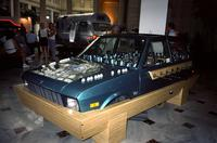 """Gooaall"" car at Yugo Next exhibition in Union Station, Washington, D.C."