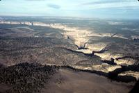 Aerial view of a canyon, Navajo Reservation, Arizona (1966)