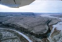Aerial view of a large plateau, Navajo Reservation, Arizona (1966)